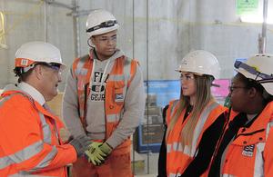 John Hayes meets apprentices