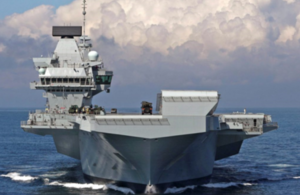 HMS Queen Elizabeth, the UK's new aircraft carrier, which was block built around the country.