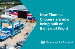 New Thames Clippers are now being built on the Isle of Wight.