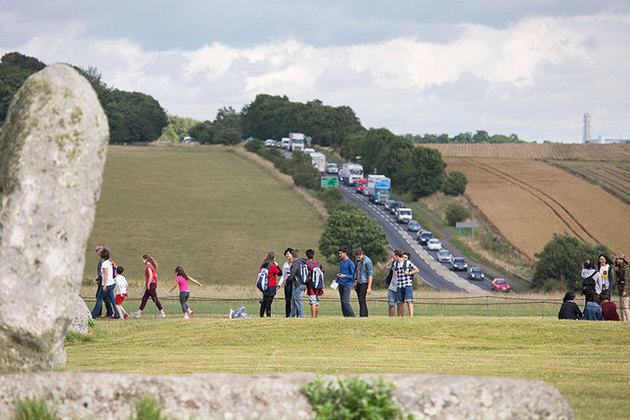 A303 by Stonehenge.