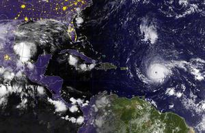 Satellite image of Hurricane Irma from the US Navy.