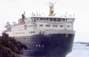Hebrides aground (photo: Scottish TV News)