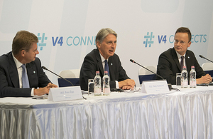 V4 and UK Press onference