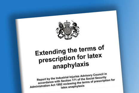 Latex anaphylaxis review: IIAC report