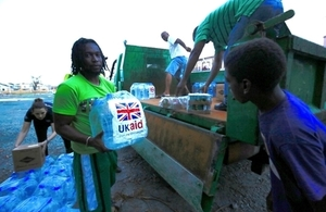 UK aid distributed in the British Virgin Islands