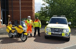 Fuel bike and traffic officer