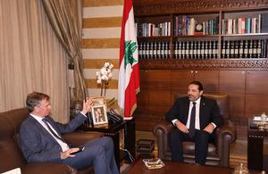 Ambassador Shorter meets with Prime Minister Saad Hariri