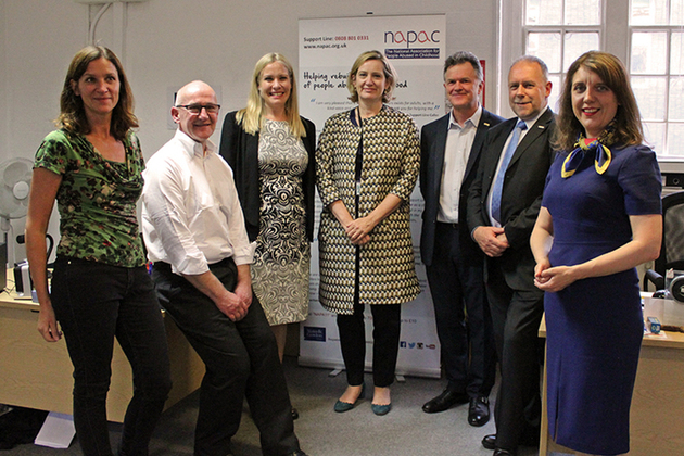 Home Secretary Amber Rudd's visit to NAPAC