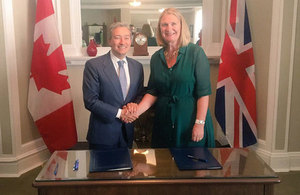 British High Commissioner and Canadian International Trade Minister sign ambitious science and innovation agreement which covering multiple sectors.