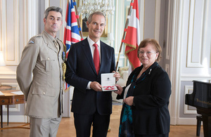 Helga Danmayr receives MBE