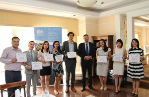 Pre-departure event for Chevening scholars held in Tashkent
