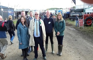 Embassy colleagues at the National Ploughing Championships