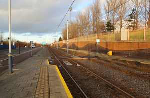 Image of Woodbourn Road tram stop crossing