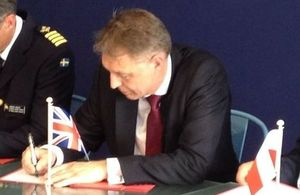Rear Admiral Rick Thompson RN signed the Le Bourget Momentum on behalf of the Military Aviation Authority (MAA). Crown Copyright. Photo: via MOD.
