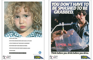 Anti-drink drive posters.
