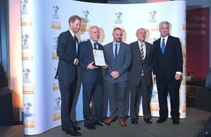 Defence Secretary and Prince Harry presented thirty-three UK employers with an Armed Forces Covenant Gold Employer Recognition Scheme (ERS) award. Crown copyright.