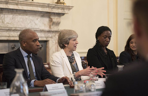 Prime Minister hosts a roundtable to launch the ethnicity facts and figures site