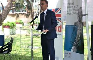 Deputy British High Commissioner to Zambia Andrew Hamilton