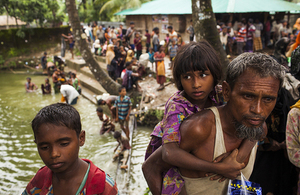 People fleeing violence in Burma cross the border into Bangladesh. Picture: UNICEF/Patrick Brown
