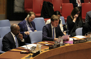 Stephen Hickey, Political Counsellor of the United Kingdom Mission to the UN, at the Security Council
