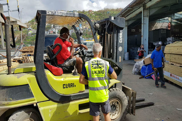 UK aid being delivered in Dominica after hurricane Maria. Picture: Pav Dhande/DFID