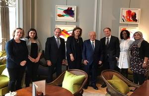 Lebanese Education Minister Marwan Hamade in London
