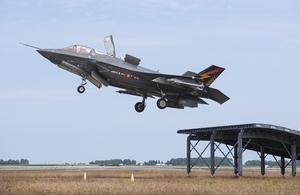 The UK's F-35s have been successfully tested on the ski ramp design at Pax Rivers, Maryland, in the US.