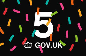 GOV.UK 5th birthday graphic