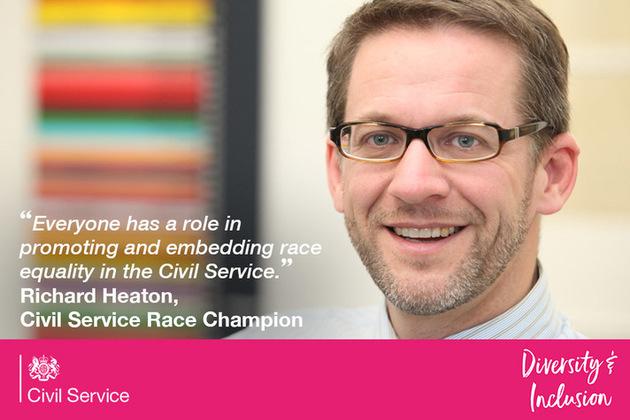 Richard Heaton Civil Service Race Champion with quote