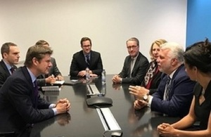 Business Secretary Greg Clark meeting with Canadian and Quebec Government Ministers