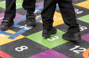 Children using the playground