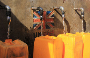 Clean water provided by UK aid in DRC