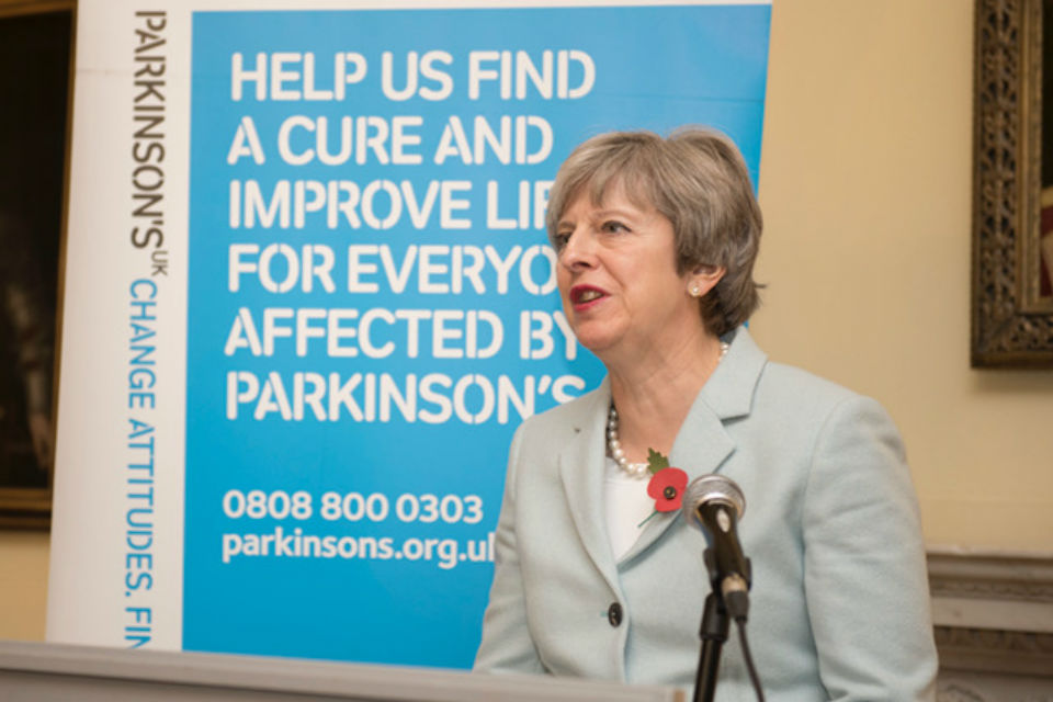 PM at a reception for Parkinson's UK