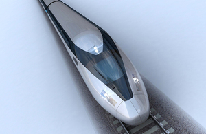 Example of how a HS2 train could look
