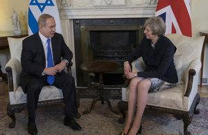 Israeli Prime Minister Binyamin Netanyahu with British Prime Minister Theresa May