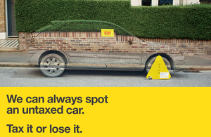 New DVLA 'Tax it or lose it' campaign