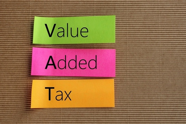 Coloured 'post it notes' spelling out Value Added Tax