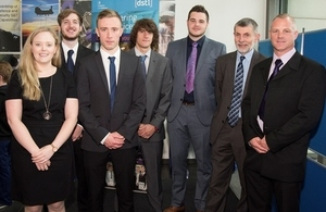 Third-year apprentices with Della Willliams and Jonathan Lyle