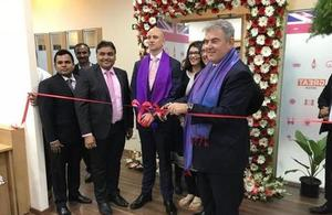 The Immigration Minister opening a Visa Application Centre in Bengaluru