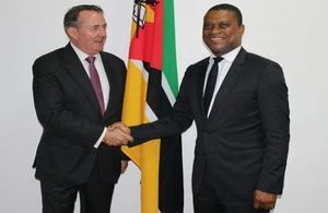 Minister Fox meeting Mozambique's Trade Minister