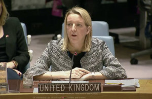 Susan Dickson at the Security Council briefing on Libya