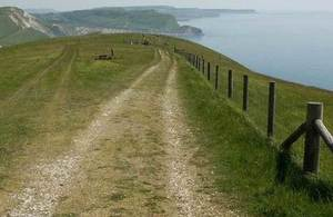 coastal path and sea