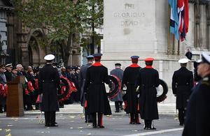 The Cenotaph, Whitehall, London.