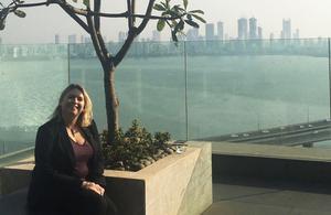 Karen Bradley in India