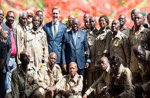 HE President NAA, HE Iain Walker, and veterans