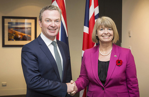 Defence Minister Harriett Baldwin with Minister Pyne.