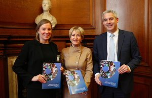 Tracey Crouch with Elizabeth Corley and Stephen Barclay
