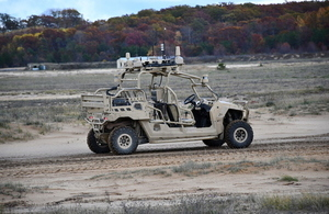 An all-terrain 4x4 vehicle, controlled with an Xbox-style controller.