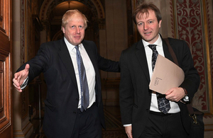 Foreign Secretary Boris Johnson meets Richard Ratcliffe