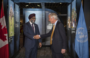 Defence Minister Lord Howe at the 2017 United Nations (UN) Peacekeeping Defence Ministerial in Vancouver. Crown copyright.